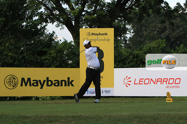 M Sasidaran (MAS) in action on the 8th tee during Round 1 of the Maybank Championship at the Saujana Golf and Country Club in Kuala Lumpur on Thursday 1st February 2018.<br /> Picture:  Thos Caffrey / www.golffile.ie<br /> <br /> All photo usage must carry mandatory copyright credit (© Golffile | Thos Caffrey)