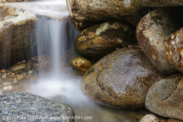 Lafayette Brook Scenic Area - Lafayette Brook in the White Mountains, New Hampshire USA during the spring months.