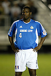27 March 2004: Shavar Thomas during player introductions before the game. Los Angeles Galaxy defeated the Kansas City Wizards 1-0 at SAS Stadium in Cary, NC in the final preseason game for both Major League Soccer teams as part of the Cary Pro Kickoff Invitational tournament..
