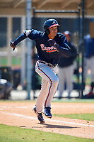 Atlanta Braves Jose Bermudez (7) during a Minor League Spring Training game against the Detroit Tigers on March 22, 2018 at the TigerTown Complex in Lakeland, Florida.  (Mike Janes/Four Seam Images)