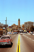 Los Angeles: Bullocks, Wilshire (from east). Still a landmark!   Photo '84.