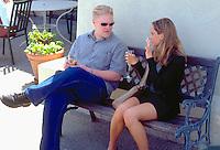 Tasting champagne and conversation at vineyard age 22.  Sonoma California USA