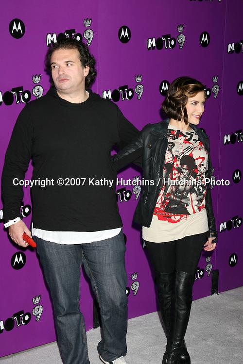 "Brittany Murphy & Husband.Motorola 9 Party.""The Lot"".Los Angeles,  CA.November 8, 2007.©2007 Kathy Hutchins / Hutchins Photo...               ."