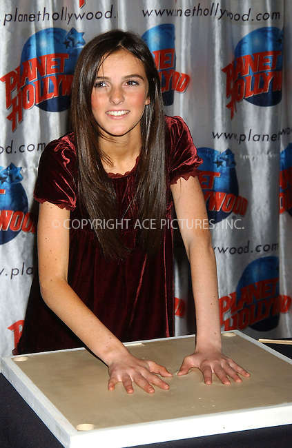WWW.ACEPIXS.COM . . . . . ....December 22nd, 2006, New York City. ....Ali Lohan Celebrates her Debut Album 'Lohan Holiday' and Celebrates her 13th Birthday with a Handprint Ceremony at Planet Hollywood Times Square. ....Please byline: KRISTIN CALLAHAN - ACEPIXS.COM.. . . . . . ..Ace Pictures, Inc:  ..(212) 243-8787 or (646) 769 0430..e-mail: info@acepixs.com..web: http://www.acepixs.com