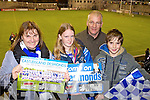 Eileen Brosnan, Maire O'Connell, Hugh O'Connell and Padraig O'Connell Castleisland Desmonds fans at the Celebrity Bainisteoir final at Parnell park on Friday night.