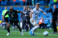 Leeds United's Ezgjan Alioski gets away from Swansea City's Andre Ayew<br /> <br /> Photographer Alex Dodd/CameraSport<br /> <br /> The EFL Sky Bet Championship - Leeds United v Swansea City - Saturday 31st August 2019 - Elland Road - Leeds<br /> <br /> World Copyright © 2019 CameraSport. All rights reserved. 43 Linden Ave. Countesthorpe. Leicester. England. LE8 5PG - Tel: +44 (0) 116 277 4147 - admin@camerasport.com - www.camerasport.com