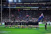 The All Blacks line up before the Steinlager Series international rugby match between the New Zealand All Blacks and France at Westpac Stadium in Wellington, New Zealand on Saturday, 16 June 2018. Photo: Dave Lintott / lintottphoto.co.nz