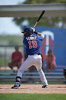Minnesota Twins Blake Schmit (19) during a minor league Spring Training intrasquad game on March 15, 2016 at CenturyLink Sports Complex in Fort Myers, Florida.  (Mike Janes/Four Seam Images)