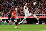 Spain's Jonny Castro and England's Marcus Rashford during UEFA Nations League 2019 match between Spain and England at Benito Villamarin stadium in Sevilla, Spain. October 15, 2018. (ALTERPHOTOS/A. Perez Meca)