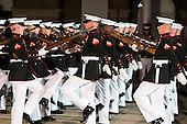 The Marine Corps Silent Drill Platoon performs during The Marine Barracks Washington, D.C. Evening Parade in Washington, D.C., on Friday, June 27, 2014. <br /> Credit: Kristoffer Tripplaar  / Pool via CNP