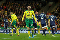 8th November 2019; Carrow Road, Norwich, Norfolk, England, English Premier League Football, Norwich versus Watford; A dejected Josip Drmic of Norwich City as Norwich misses a chance on goal - Strictly Editorial Use Only. No use with unauthorized audio, video, data, fixture lists, club/league logos or 'live' services. Online in-match use limited to 120 images, no video emulation. No use in betting, games or single club/league/player publications