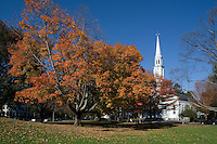 Historic town green, Lexington, MA