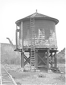 Cow Creek water tank.<br /> D&amp;RGW  Ouray Branch, CO  Taken by Rogers, Donald E. A. - 5/31/1939