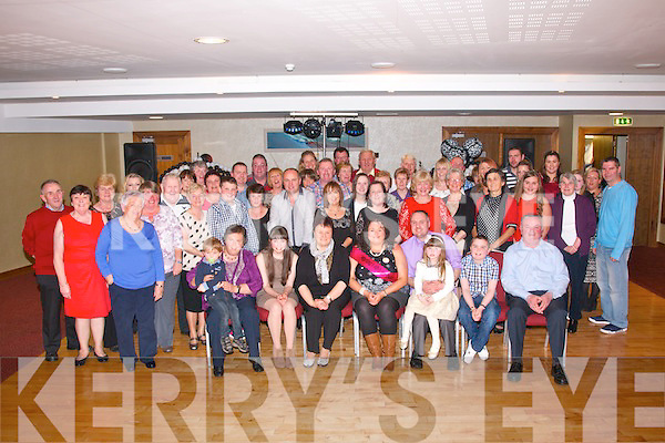 Martina Murphy, Lerrig, Ardfert (seated centre) had a great night in the Manor West Hotel, Tralee celebrating her 40th birthday along with family, friends and neighbours.