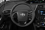 Car pictures of steering wheel view of a 2019 Toyota Prius XLE 5 Door Hatchback