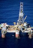 Rio de Janeiro, Brazil. Petrobras XVII offshore oil exploration platform; Campos Basin, off the coast.