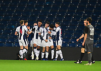 West Bromwich Albion U18's Jamie Soule celebrates scoring the opening goal with team-mates<br /> <br /> Photographer Andrew Vaughan/CameraSport<br /> <br /> FA Youth Cup Round Three - West Bromwich Albion U18 v Lincoln City U18 - Tuesday 11th December 2018 - The Hawthorns - West Bromwich<br />  <br /> World Copyright &copy; 2018 CameraSport. All rights reserved. 43 Linden Ave. Countesthorpe. Leicester. England. LE8 5PG - Tel: +44 (0) 116 277 4147 - admin@camerasport.com - www.camerasport.com
