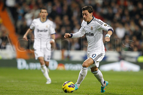 01.12.2012. Madrid, Spain, La Liga   match played between Real Madrid CF vs  Atletico de Madrid (2-0) at Santiago Bernabeu stadium. The picture shows  Mesut Ozil (German midfielder of Real Madrid)