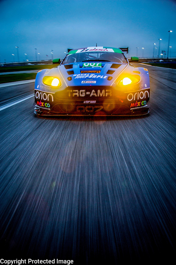 Aston Martin on-track photo shoot, Roar before the 24, testing, Daytona International Speedway, January 2016.  (Photo by Brian Cleary/ www.bcpix.com )