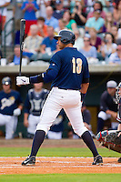 Alex Rodriguez of the New York Yankees steps up to the plate for the Charleston RiverDogs against the Rome Braves at Joseph P. Riley Park on July 2, 2013 in Charleston, South Carolina.  The RiverDogs defeated the Braves 4-2.   (Brian Westerholt/Four Seam Images)
