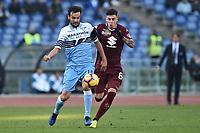 Marco Parolo Lazio and Daniele Baselli Torino competes for the ball.<br /> Roma 29-12-2018 Stadio Olimpico<br /> Football Calcio Campionato Serie A<br /> 2018/2019 <br /> Lazio - Torino<br /> Foto Antonietta Baldassarre / Insidefoto