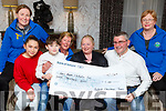Belfield Christmas Trees making a donation of €1,000 to the Kerry Hospice Palliative Care on Monday in the Meadowsland Hotel, l-r: Andrea O'Donoghue, Kaila and Jayden Sugrue, Maura Sullivan, Samantha and Padraig Sugrue with Margaret Crean.