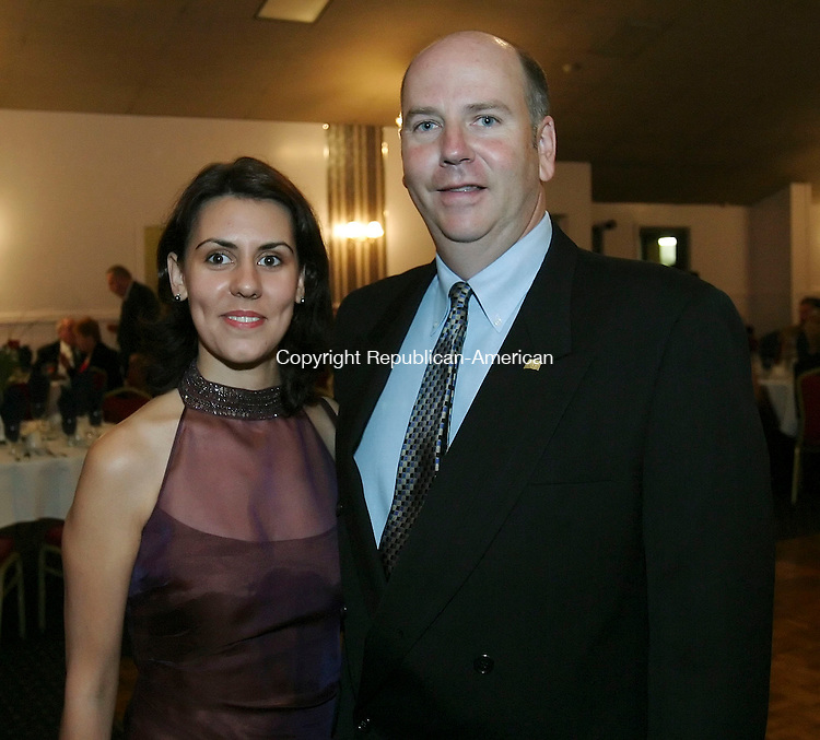 NAUGATUCK,  CT 16 September 2005 -091605BZ21- Lucy Fonseca, of Prospect; and Rep. David K. Labriola, R-Naugatuck<br /> <br /> at the Inaugural Ball In Honor of the Naugatuck Mayor held at the Continental Room in Naugatuck Friday night.<br /> <br />  Jamison C. Bazinet / Republican-American