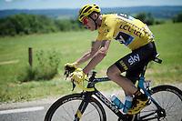 Chris Froome's (GBR/SKY) typical bike position<br /> <br /> stage 16: Morain-en-Montagne to Bern (SUI) / 209km<br /> 103rd Tour de France 2016