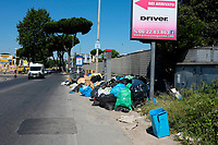 Roma, 23 Giugno 2019<br /> Via Prenestina.<br /> Rifiuti in strada,emergenza