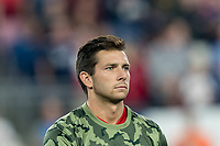 FOXBOROUGH, MA - AUGUST 24: Brandt Bronico #13 of Chicago Fire during a game between Chicago Fire and New England Revolution at Gillette Stadium on August 24, 2019 in Foxborough, Massachusetts.