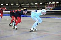 SCHAATSEN: HEERENVEEN: 24-06-2014, IJsstadion Thialf, Zomerijs training, Koen Verweij, Bart Swings, ©foto Martin de Jong