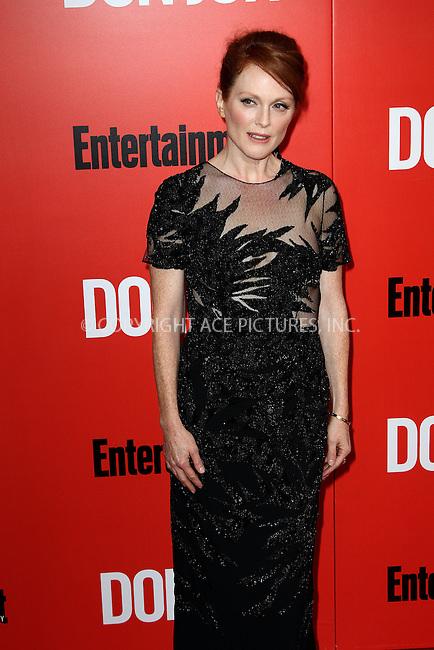 WWW.ACEPIXS.COM<br /> <br /> September 12 2013, New York City<br /> <br /> Julianne Moore at the 'Don Jon' New York Premiere at SVA Theater on September 12, 2013 in New York City. <br /> <br /> By Line: Zelig Shaul/ACE Pictures<br /> <br /> <br /> ACE Pictures, Inc.<br /> tel: 646 769 0430<br /> Email: info@acepixs.com<br /> www.acepixs.com