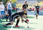 BLOEMENDAAL   - Hockey -  2e wedstrijd halve finale Play Offs heren. Bloemendaal-Amsterdam (2-2) . A'dam wint shoot outs. Justin Reid-Ross (A'dam).  COPYRIGHT KOEN SUYK