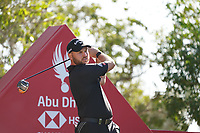 Jordan Smith (ENG) on the 8th tee during Round 2 of the Abu Dhabi HSBC Championship 2020 at the Abu Dhabi Golf Club, Abu Dhabi, United Arab Emirates. 17/01/2020<br /> Picture: Golffile   Thos Caffrey<br /> <br /> <br /> All photo usage must carry mandatory copyright credit (© Golffile   Thos Caffrey)