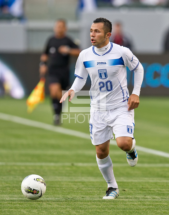 CARSON, CA - March 23, 2012: Alfredo Mejia (20) of Honduras during the Honduras vs Panama match at the Home Depot Center in Carson, California. Final score Honduras 3, Panama 1.