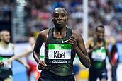 2nd February 2019, Karlsruhe, Germany;  1500m men: winner Vincent Kibet (KEN). IAAF Indoor athletics meeting, Karlsruhe