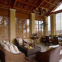 Meals can be taken al fresco in the outdoor living/dining room situated on the covered terrace of this country