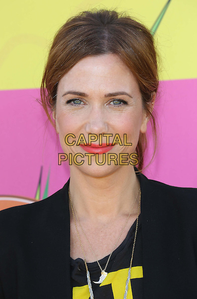 Kristen Wiig.at The Nickelodeon's Kids' Choice Awards 2013 held at The Galen Center in Los Angeles, California, USA,.March 23rd 2013.headshot portrait pink red lipstick black yellow writing  .CAP/ADM/KB.©Kevan Brooks/AdMedia/Capital Pictures.