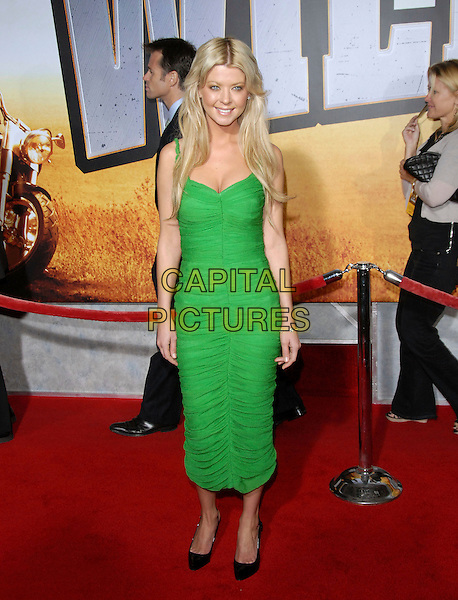 "TARA REID.attends The Touchstone Pictures' World Premiere of ""Wild Hogs"" held at The El Capitan Theatre in Hollywood, California, USA, February 27 2007. .full length green ruched dress.CAP/DVS .©Debbie VanStory/Capital Pictures"