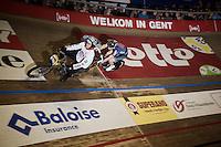 Marc Hester (DEN) behind the derny<br /> <br /> 2015 Gent 6