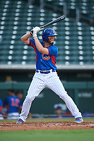 AZL Cubs 2 Kevin Moreno (19) at bat during an Arizona League game against the AZL Reds on July 23, 2019 at Sloan Park in Mesa, Arizona. AZL Cubs 2 defeated the AZL Reds 5-3. (Zachary Lucy/Four Seam Images)