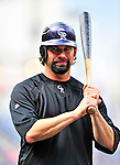 22 April 2010: Colorado Rockies' first baseman Todd Helton awaits his turn in the batting cage prior to a game against the Washington Nationals at Nationals Park in Washington, DC. The Rockies shut out the Nationals 2-0 gaining a 2-2 series split. Mandatory Credit: Ed Wolfstein Photo