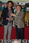Kerry's Best - Paul Galvin pictured receiving his Player of the Year award from Donal O'Leary, Chairperson of the Kerry Supporters Club at their 20th Annual Social held in The Ballygarry House Hotel on Saturday night................................................................................................................................................................................................................................................................................ ............