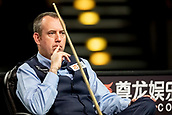 30th January 2019, Berlin, Germany;  Mark Williams, snooker world champion and defending champion from Wales watches the snooker table at the German Masters 2019 against Zhou Yuelong from China.