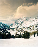 USA, Utah, scenic view of snowcapped mount superior, Alta  Ski Resort