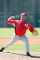 Pedro Villarreal, Cincinnati Reds 2010 minor league spring training..Photo by:  Bill Mitchell/Four Seam Images.