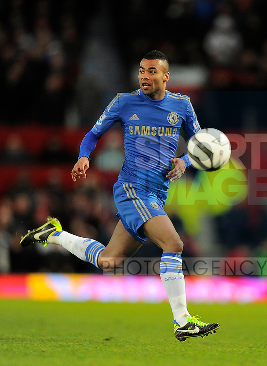 Ashley Cole of Chelsea - FA Cup quarter-final - Manchester Utd vs Chelsea - Old Trafford Stadium - 10th March 2013 - Pic Simon Bellis/Sportimage