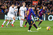 2nd February 2019, Camp Nou, Barcelona, Spain; La Liga football, Barcelona versus Valencia; Lionel Messi of FC Barcelona scores the penalty and his side's first goal for 1-2 in the 39th minute
