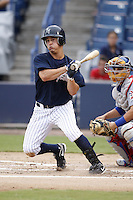 July 10, 2009:  Dan Brewer of the Tampa Yankees during a game at George M. Steinbrenner Field in Tampa, FL.  Tampa is the Florida State League High-A affiliate of the New York Yankees.  Photo By Mike Janes/Four Seam Images