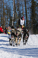 David Sawatzky and team during the ceremonial start of the Iditarod sled dog race Anchorage Saturday, March 2, 2013. ..Photo (C) Jeff Schultz/IditarodPhotos.com  Do not reproduce without permission